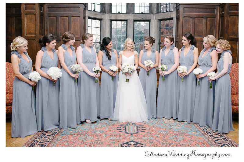 bride-and-bridesmaids-with-flowers-800x534 Laura and Kevin Nashville Wedding at Scarritt Bennett