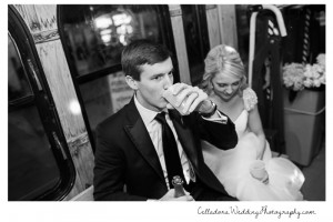 bride-and-groom-champagne-on-bus-300x200 bride-and-groom-champagne-on-bus