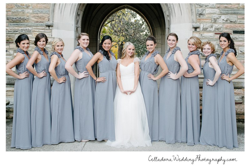 bridesmaids-posing-800x534 Laura and Kevin Nashville Wedding at Scarritt Bennett