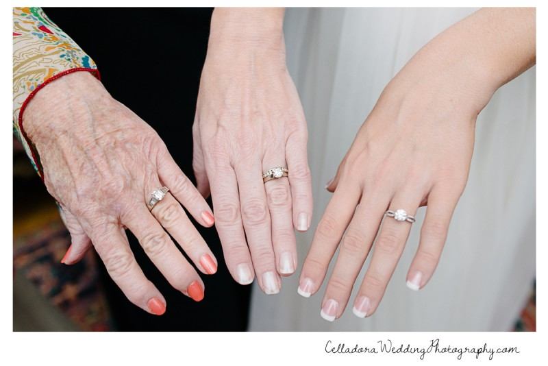 three-generations-wedding-rings-800x534 Laura and Kevin Nashville Wedding at Scarritt Bennett