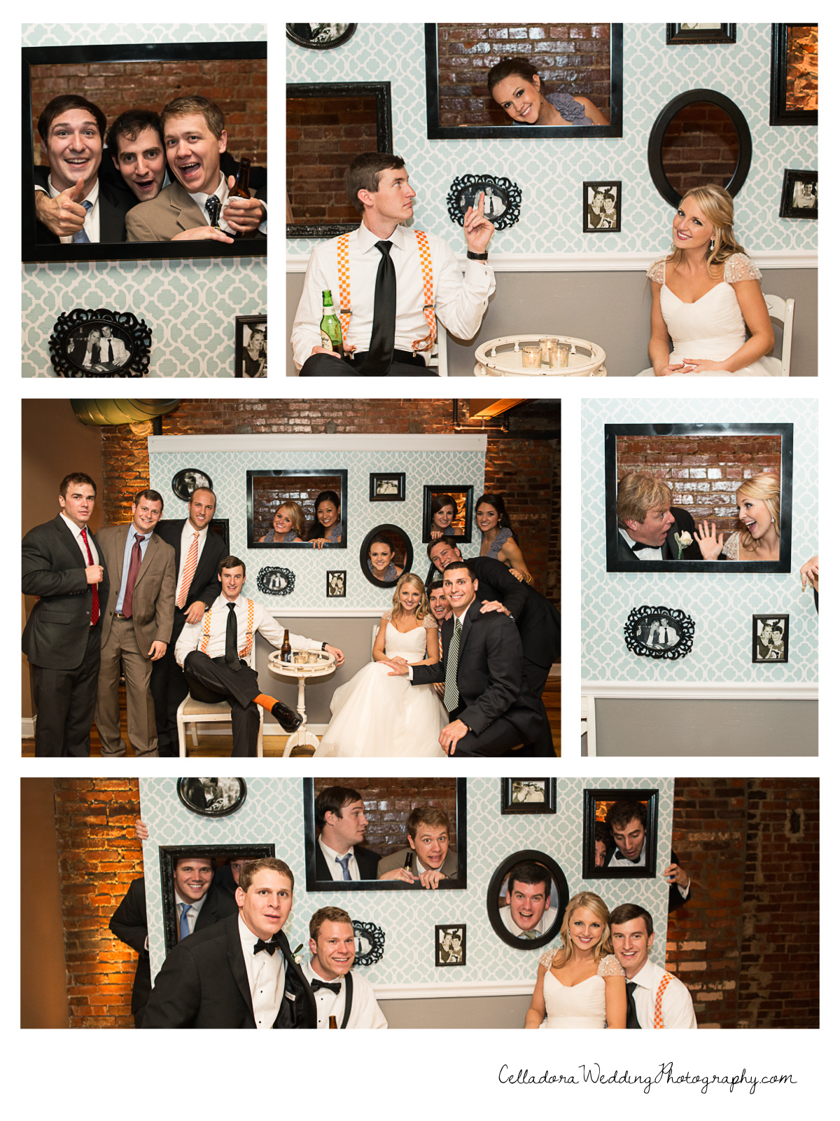Wedding Reception Photobooth Wall Celladora Wedding Photography