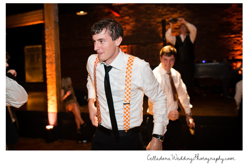 wet-groom-in-suspenders-800x534 Laura and Kevin Nashville Wedding at Scarritt Bennett