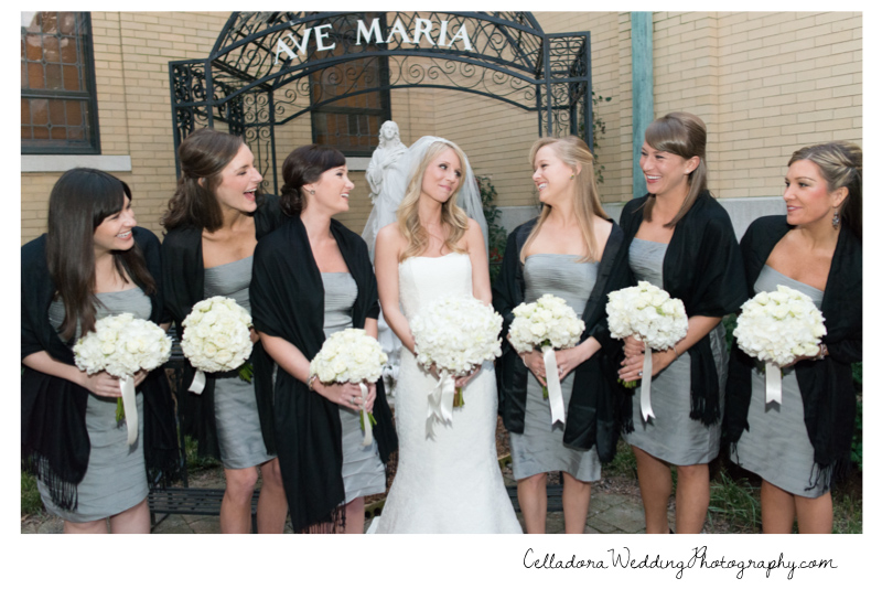 bride-and-bridesmaids Catherdral of the Incarnation Wedding | Avenue Reception | Erin + Zach