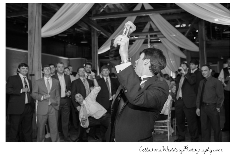 garter-toss Catherdral of the Incarnation Wedding | Avenue Reception | Erin + Zach