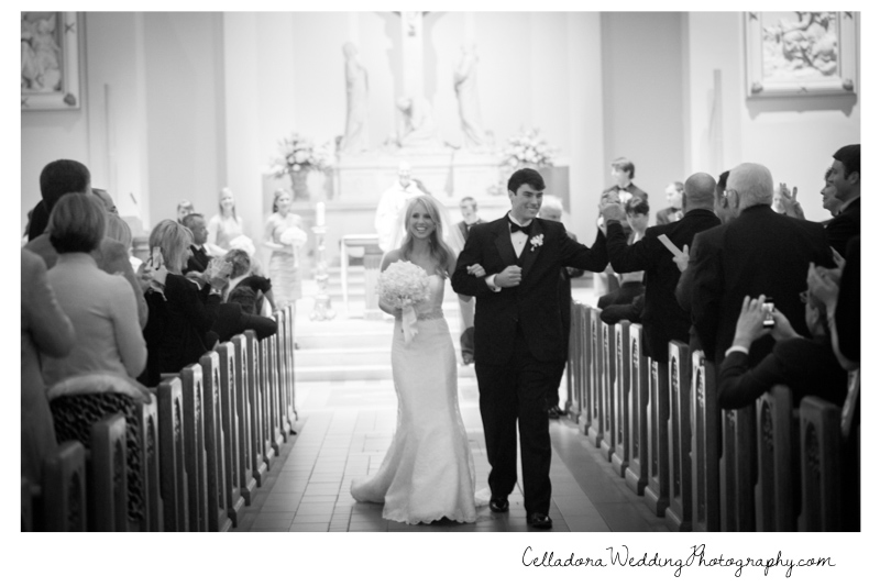 nashville-catholic-wedding-exit Catherdral of the Incarnation Wedding | Avenue Reception | Erin + Zach