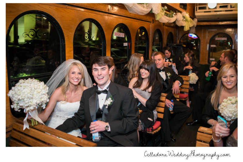 wedding-trolley-nashville Catherdral of the Incarnation Wedding | Avenue Reception | Erin + Zach