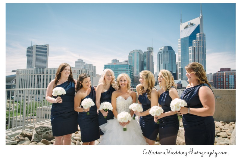 bride-and-bridesmaids-nashville-skyline-800x534 Nashville Wedding Photography   WO Smith Music School