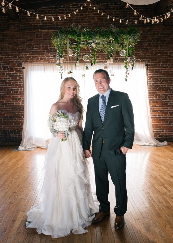 bride-and-groom-nashville-571x800 One Cannery Ballroom Nashville 4th of July Wedding   Brian and Jenna