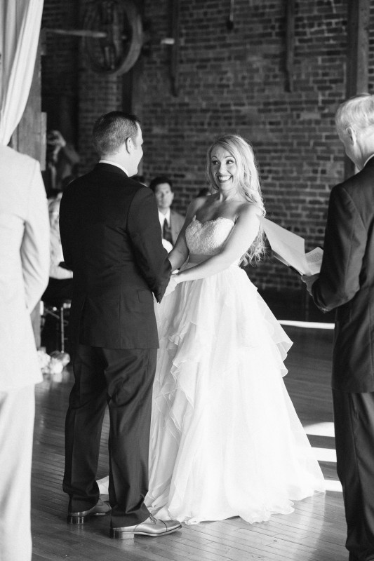 bride-looking-at-groom-533x800 One Cannery Ballroom Nashville 4th of July Wedding   Brian and Jenna