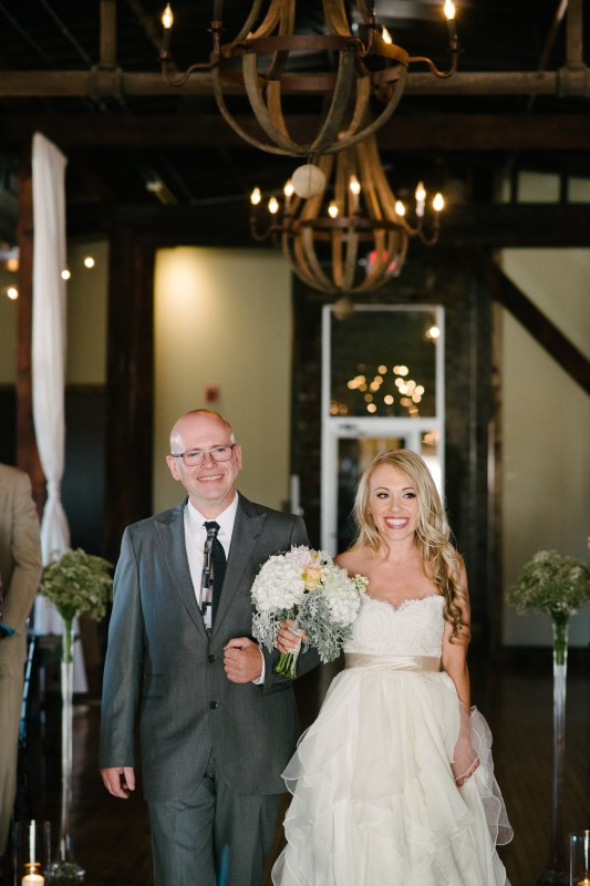 bride-walking-down-aisle-533x800 One Cannery Ballroom Nashville 4th of July Wedding   Brian and Jenna