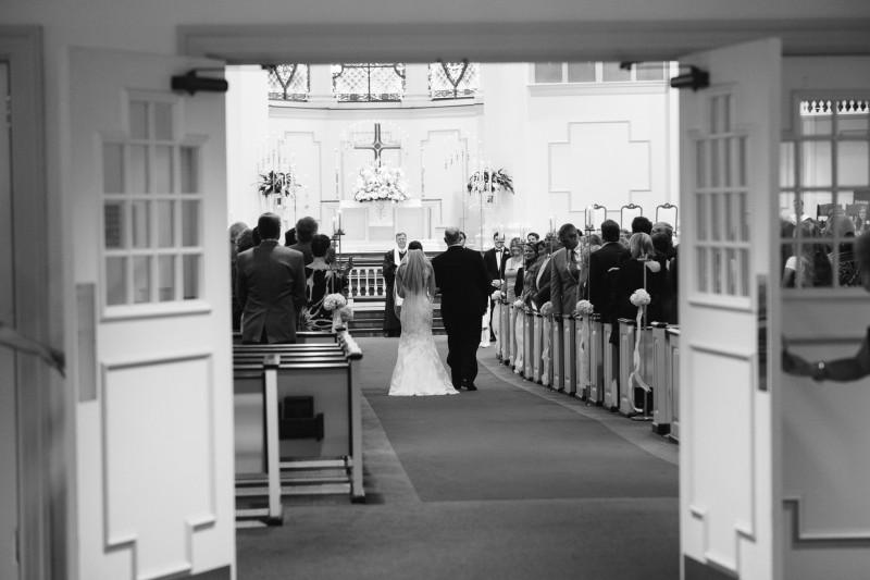 father-walking-bride-800x533 Blair + Hunter Brentwood, TN Wedding