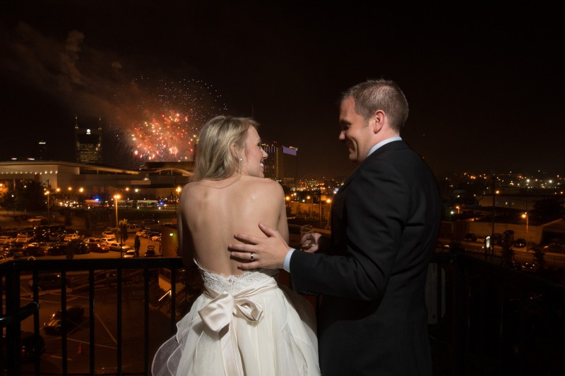 fireworks-wedding-800x533 One Cannery Ballroom Nashville 4th of July Wedding | Brian and Jenna