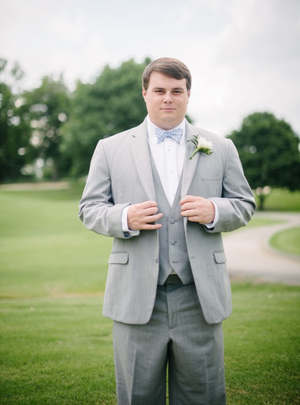groom-on-golf-course-593x800 Catherine and Zach Hermitage, TN Outdoor Wedding