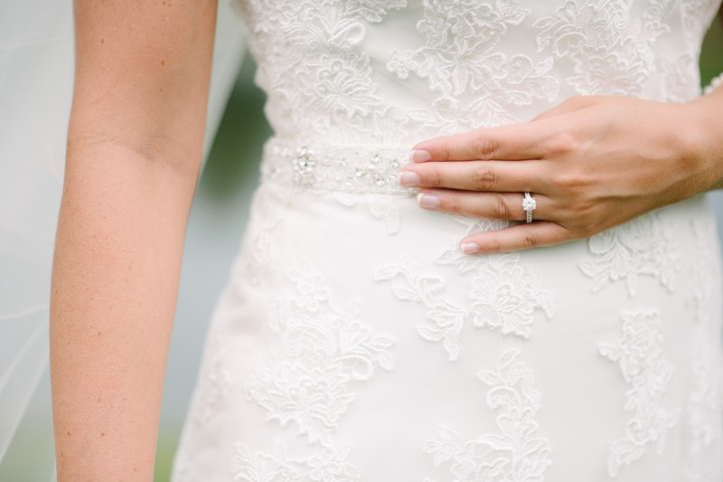 wedding-dress-detail-with-ring-800x533 Catherine and Zach Hermitage, TN Outdoor Wedding