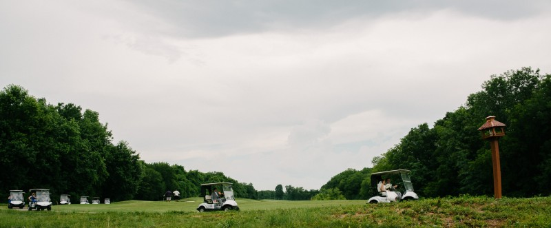 wedding-party-on-golf-carts-800x331 Catherine and Zach Hermitage, TN Outdoor Wedding