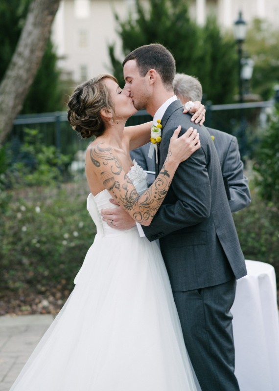 wedding-first-kiss1-570x800 Opryland Hotel Wedding in Nashville, TN - Dawn + Keith