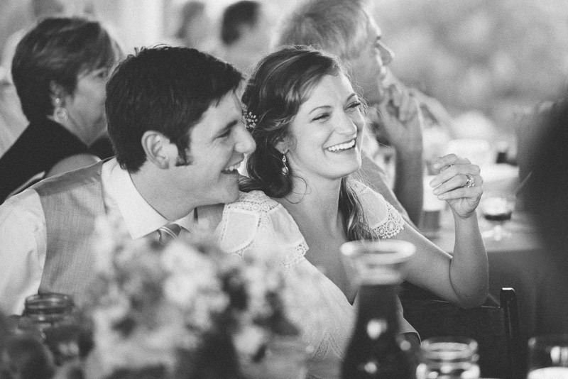bride-and-groom-laughing-800x534 Front Porch Farms Wedding - Taylor and William
