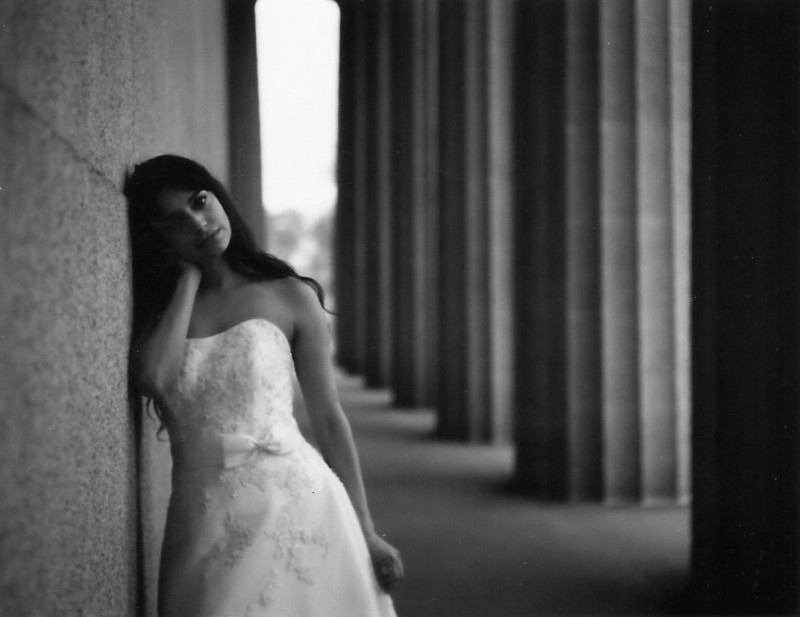 fuji-black-and-white-instant-film-800x617 Brides Shot on Polaroid Instant Film