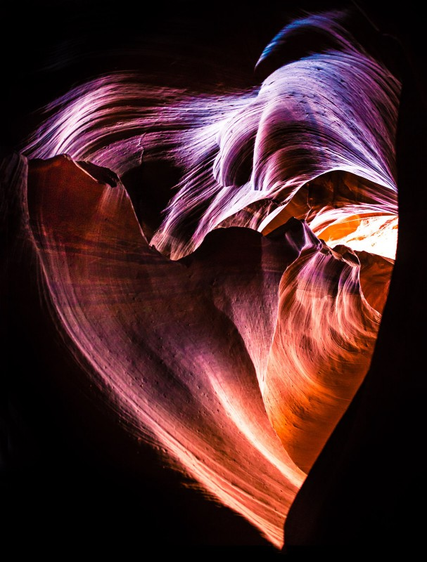 antelope-canyon-heart-607x800 The heart of the canyon