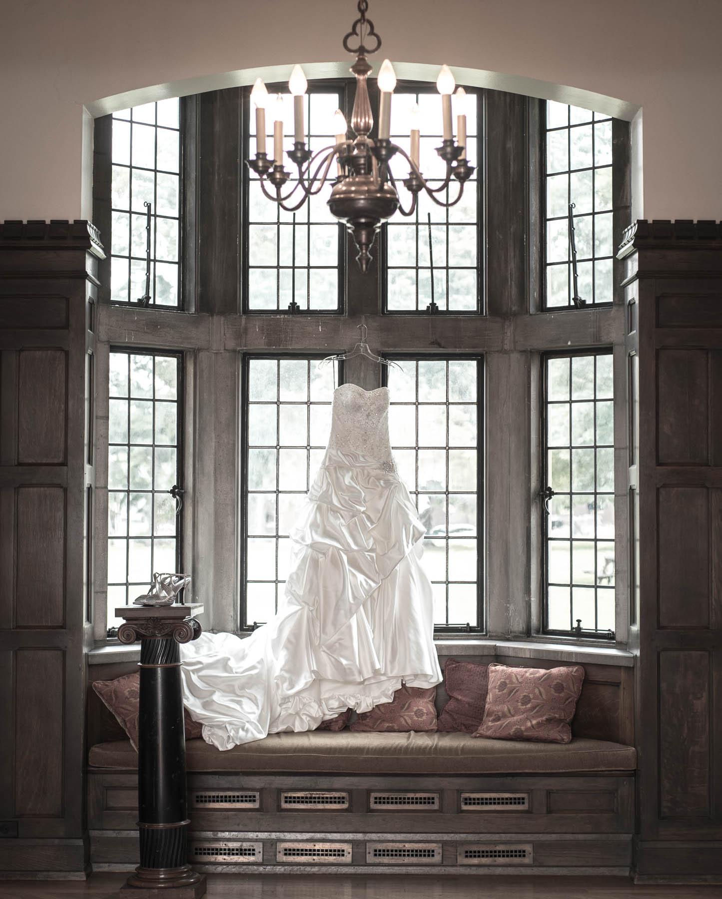 Wedding Dress Hanging Up 241x300