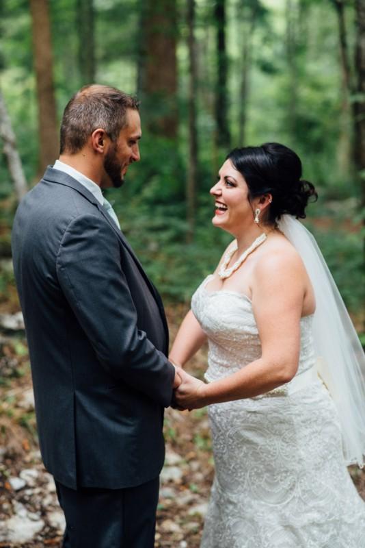 bride-groom-first-look-534x800 Outdoor Barn Wedding | Murfreesoro, TN | Paul and Amanda