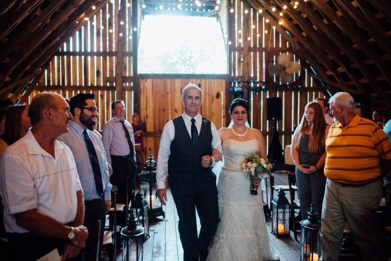 father-walking-bride-down-aisle-800x534 Outdoor Barn Wedding | Murfreesoro, TN | Paul and Amanda