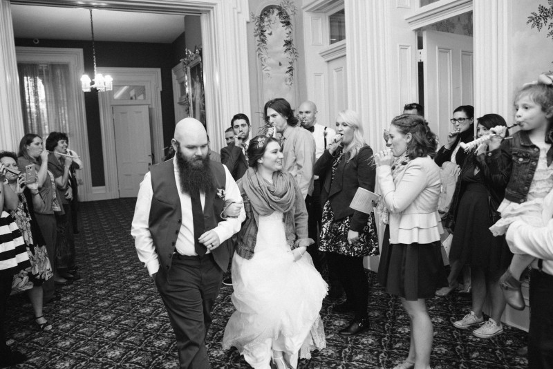 wedding-exit-noise-makers-800x534 Two Rivers Mansion Fall Wedding | Kristen and Chris