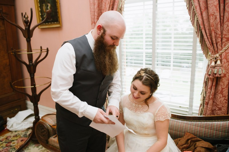 wedding-vows-800x534 Two Rivers Mansion Fall Wedding | Kristen and Chris