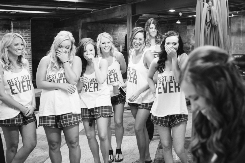 best-day-ever-bridesmaids-tshirts-800x534 Kristen and Nick Wedding at aVenue | Nashville, TN