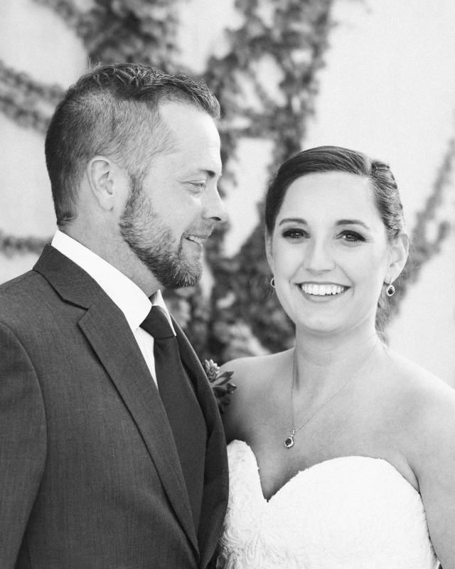 black-and-white-portrait-640x800 Elisa + Jerrad Wedding | Balinese Ballroom | Memphis, TN