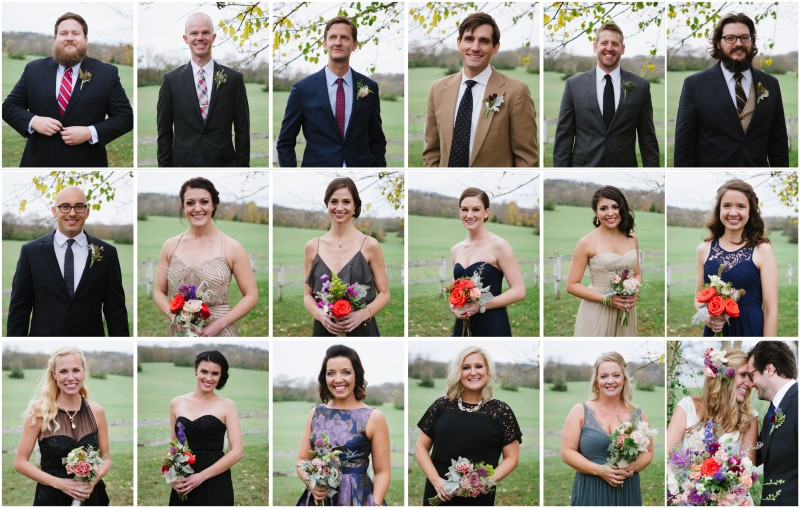 bridal-party-individual-photos-collage-800x508 Laurie + Craig - Antrim Wedding   Columbia, TN