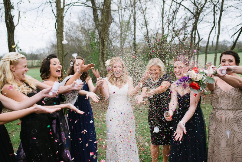 bride-bridesmaids-confetti-800x534 Laurie + Craig - Antrim Wedding | Columbia, TN