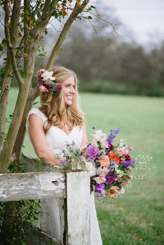 bride-on-fence-534x800 Laurie + Craig - Antrim Wedding   Columbia, TN