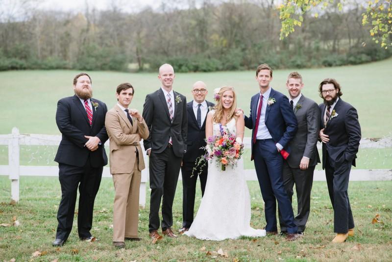 bride-with-fun-groomsmen-800x534 Laurie + Craig - Antrim Wedding   Columbia, TN