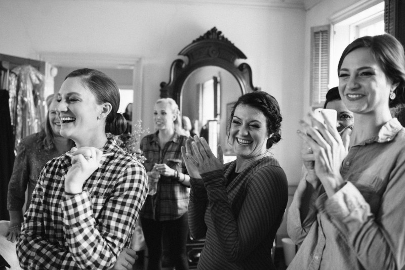 cheering-bridesmaids-800x534 Laurie + Craig - Antrim Wedding   Columbia, TN
