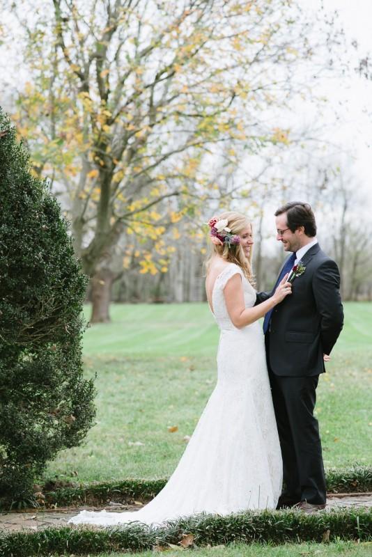 fall-wedding-first-look-534x800 Laurie + Craig - Antrim Wedding   Columbia, TN