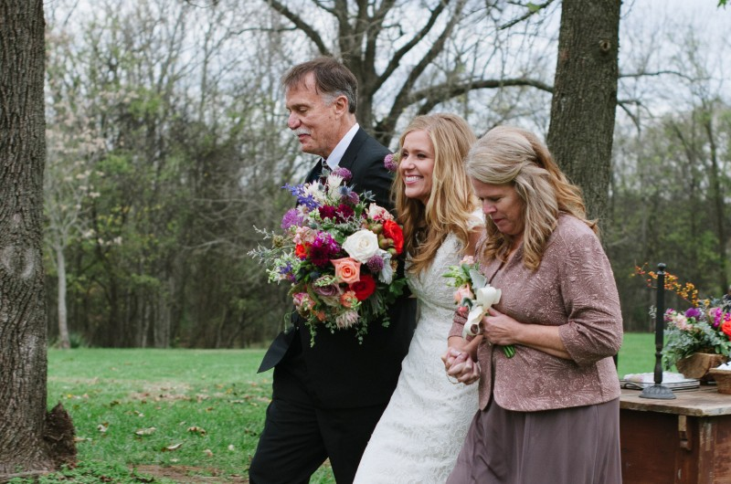 father-mother-walking-bride-down-aisle-800x530 Laurie + Craig - Antrim Wedding   Columbia, TN