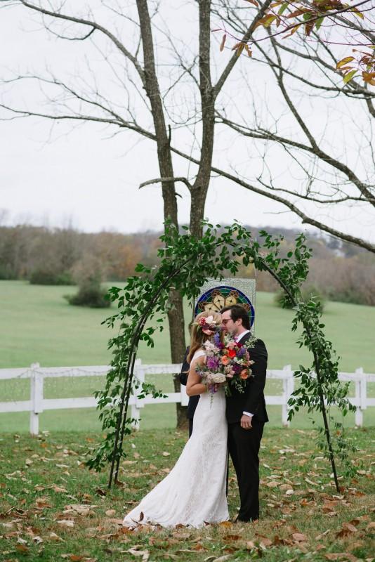 first-kiss-534x800 Laurie + Craig - Antrim Wedding   Columbia, TN