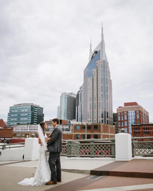 first-look-nashville-skyline-640x800 Kristen and Nick Wedding at aVenue | Nashville, TN