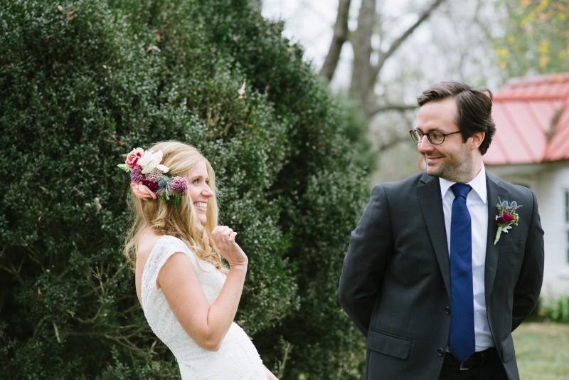 first-look-surprise-800x534 Laurie + Craig - Antrim Wedding   Columbia, TN