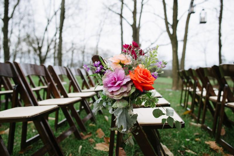 flowers-on-chairs-800x534 Laurie + Craig - Antrim Wedding   Columbia, TN