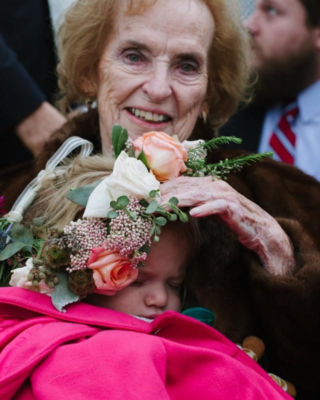 grandmother-with-flower-girl-640x800 Laurie + Craig - Antrim Wedding   Columbia, TN