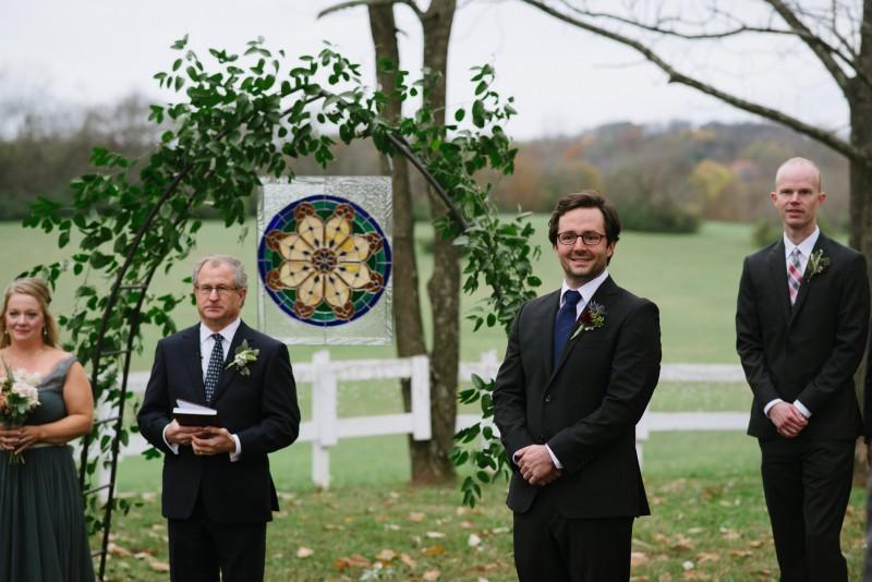 groom-reaction-800x534 Laurie + Craig - Antrim Wedding   Columbia, TN