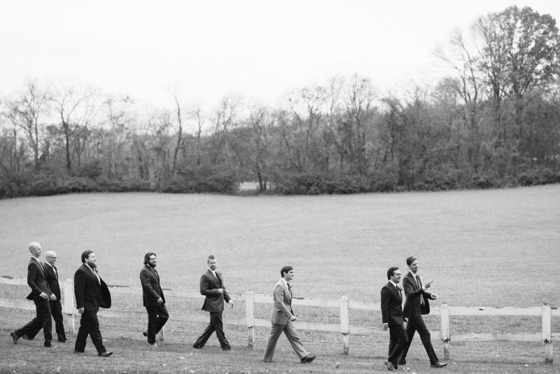 groom-with-groomsmen-walking-800x534 Laurie + Craig - Antrim Wedding   Columbia, TN