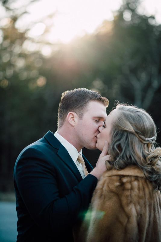 bride-groom-kiss-534x800 Rachel + Kyle | Nelson Andrews Lodge | Nashville, TN