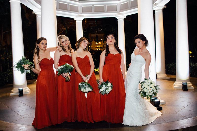 bridesmaids-movie-pose-800x533 Julia and Wes | Nashville, TN Winter Wedding | Gaylord Opryland Hotel