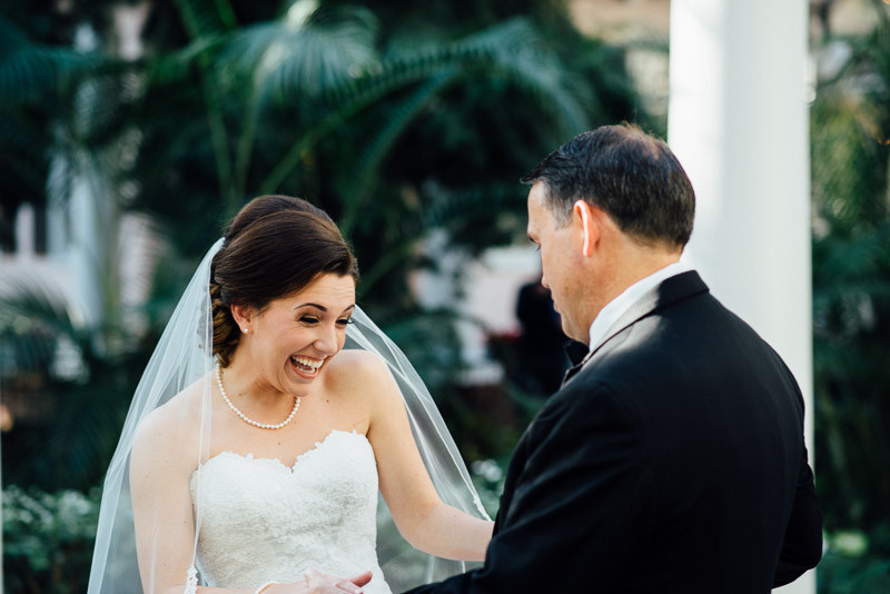 father-daughter-first-look-800x534 Julia and Wes | Nashville, TN Winter Wedding | Gaylord Opryland Hotel
