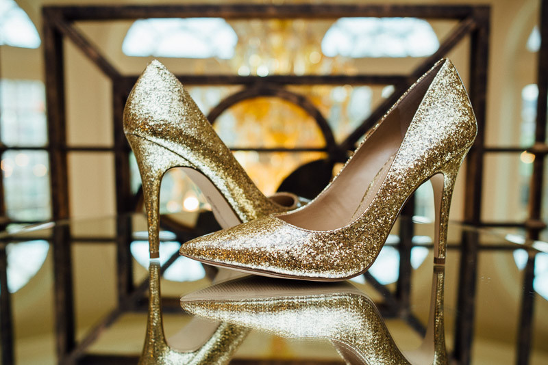 gold-wedding-shoes-bling-800x534 Julia and Wes | Nashville, TN Winter Wedding | Gaylord Opryland Hotel
