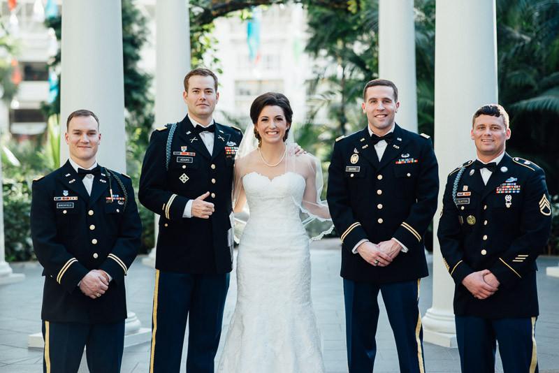 groomsmen-with-bride-800x534 Julia and Wes | Nashville, TN Winter Wedding | Gaylord Opryland Hotel