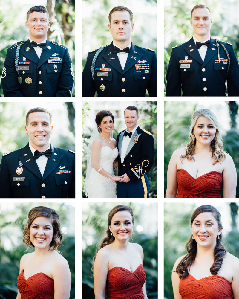 military-wedding-party-e1453657823288 Julia and Wes | Nashville, TN Winter Wedding | Gaylord Opryland Hotel